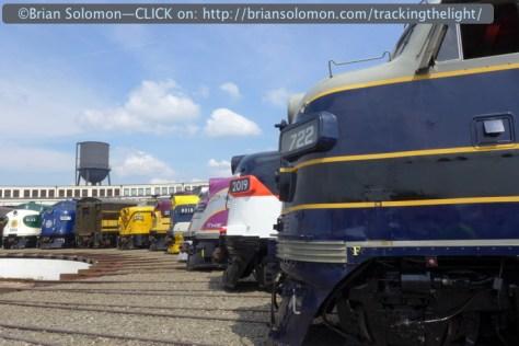Lumix LX-7 view of diesels at Spencer, North Carolina.