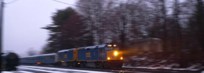 CSX Business Train at Dusk.
