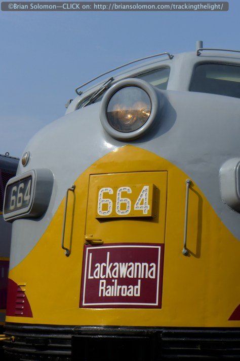 One of three DL&W painted F-units on display.