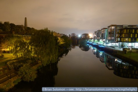 River Liffey at Midnight. Exposed with a Lumix LX3.