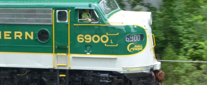 Southern 6900 at Spencer, North Carolina, May 30, 2014—Tracking the Light Special Post.