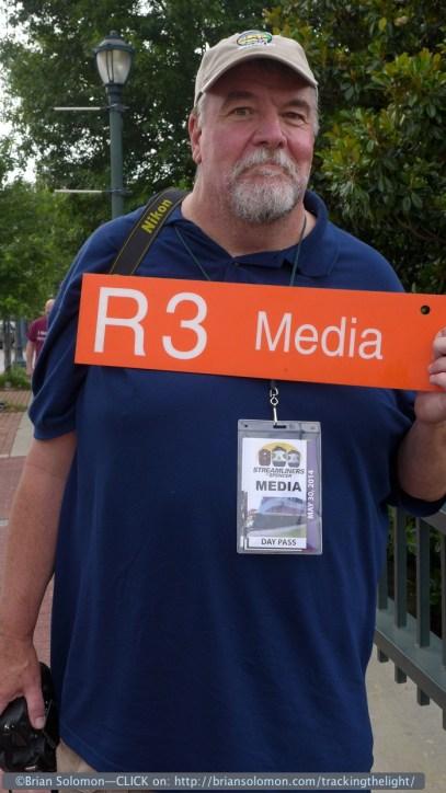 Media man in Salisbury. Lumix LX-7 photo.