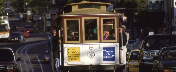 Powell and Mason Car on Columbus Avenue.