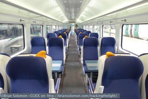 Interior of my train at Heuston Station Dublin. Lumix LX7 photo.
