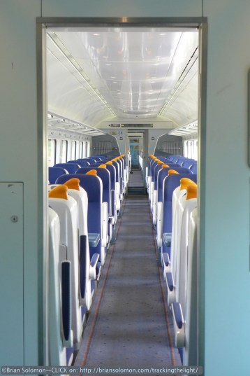Irish Rail's Rotem-built Intercity Rail Cars are comfortable trains. Lumix LX7.