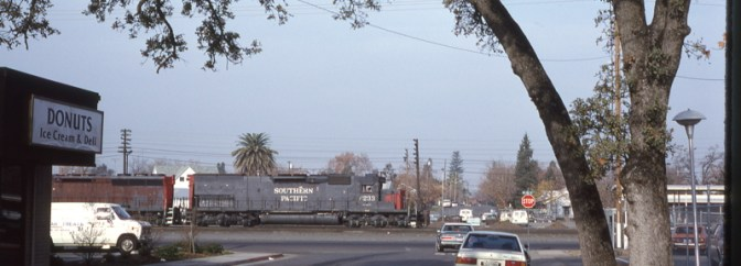 Southern Pacific at Roseville, December 1989.