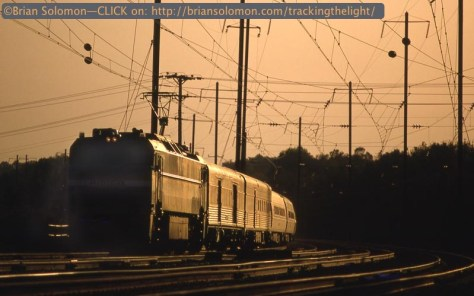 Sunset on the Northeast Corridor on November 23, 1992.