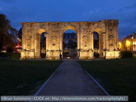 A Roman arch tells of Reims history. Augustus was here. Lumix LX7 photo.