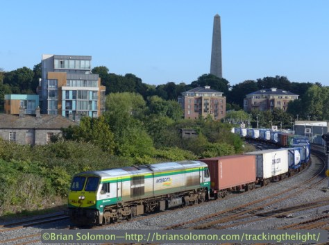 Irish Rail's IWT Liner passes Islandbridge on a crisp Saturday morning September 6, 2014. Lumix LX7 photo.
