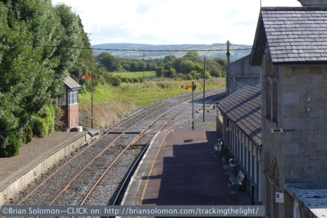 Irish Rail station at Roscrea, County Tipperary in August 2014. Exposed with a Lumix LX7. (And yes, I also made a color slide, for the sake of modal consistency and archival longevity.)