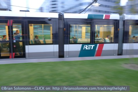 Tram pan in central Rotterdam. Lumix LX7 photo.