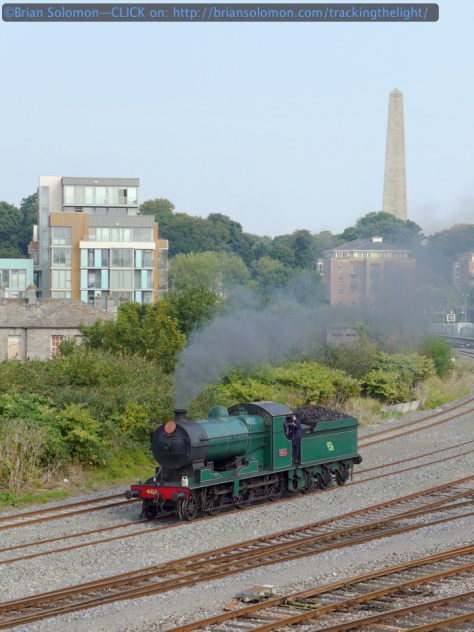 RPSI 461 at Islandbridge Junction, Dublin, Ireland at 11:53 am on September 4, 2014. Lumix LX7 photo.
