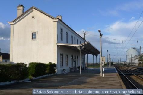 Rural station at Riachos T. Novas, Portugal. Lumix LX3 photo.