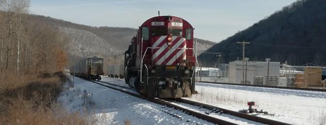 Alco Diesels at Emporium, Pennsylvania.