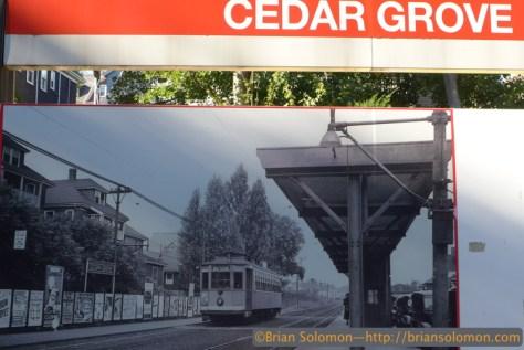 MBTA displays its heritage at Cedar Grove. October 25, 2014. Lumix LX7 photo.