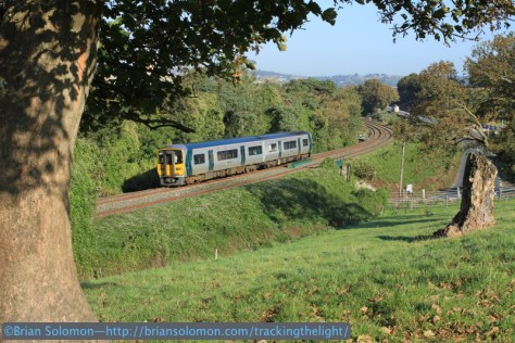 Trailing view from a hillside at Carrigaloe.
