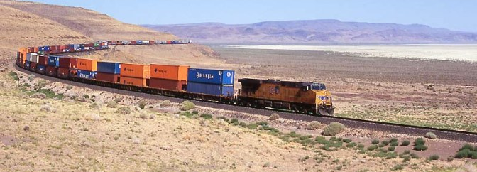 Union Pacific in the Smoke Creek Desert—Sand Pass, Nevada.