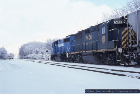 This image was made east of Owego, New York at 10:53 am on November 19, 1986. Kodachrome 25 slide flim.