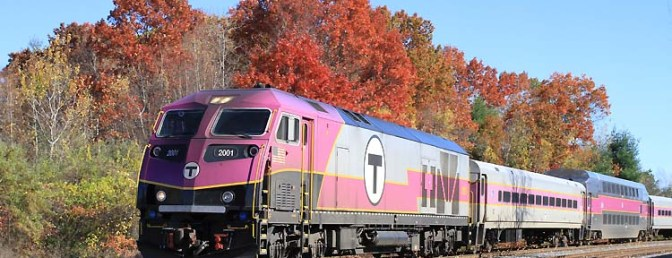 MBTA 2001 works west at the Willows