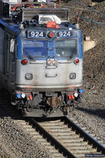 Amtrak AEM-7 924. Canon EOS 7D with 200mm lens.