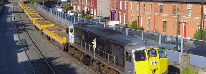 Irish Rail Class 071s at Dublin's North Wall.
