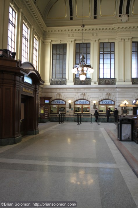 Main waiting room at Hoboken.