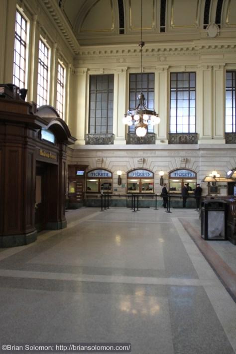 Main waiting room at Hoboken.