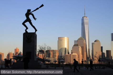 The Katyn massacre memorial is located near Exchange Place across from lower Manhattan. Many years ago, Pennsylvania Railroad operated an extensive terminal near this very location with a cavernous balloon style shed patterned after London St. Pancras.