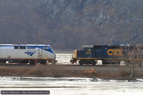 Only about 30 seconds after I got out of the car, I could here Amtrak train 283 approaching. Canon EOS 7D 100mm lens.