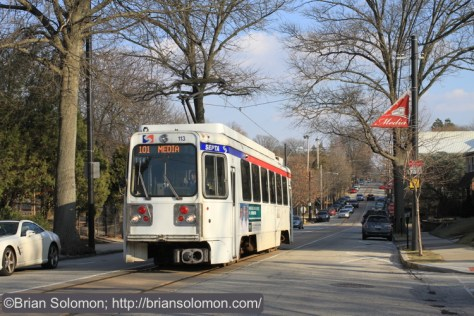 SEPTA 101 on the streets of Media, PA. Canon EOS 7D with 40mm lens.