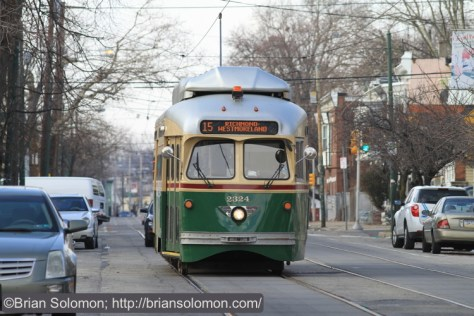 SEPTA's number 15 on Girard Avenue.