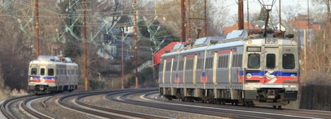 Former PRR Four Track Line at Work.