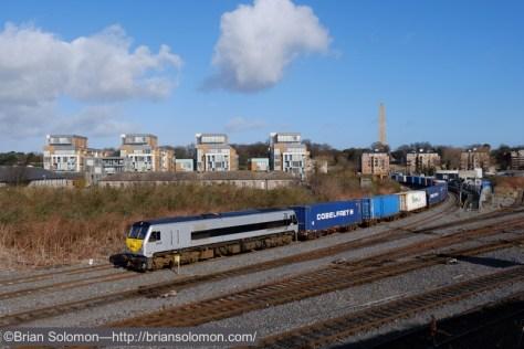 Irish Rail's IWT Liner at Islandbridge Junction near Heuston Station on February 26, 2015.  Fuji X-T1 photo.