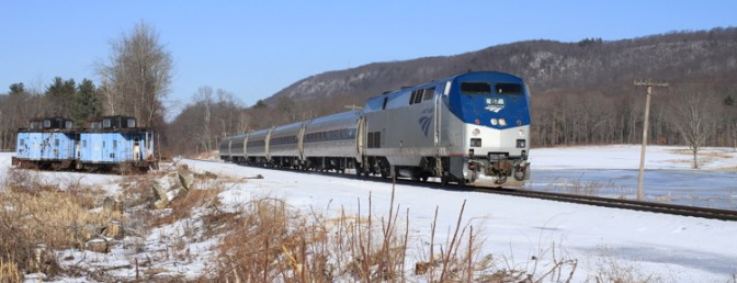 Amtrak's Vermonter at South Deerfield.