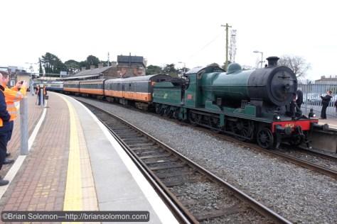 On arrival at Drogheda.