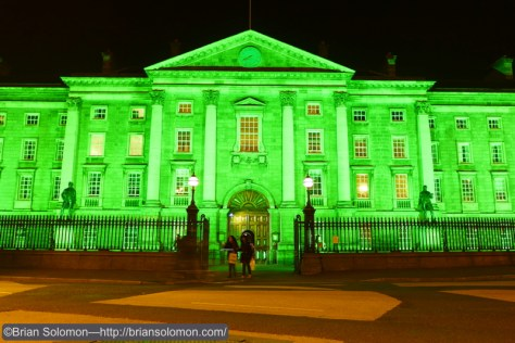 Trinity College on College Green, Dublin. Lumix LX-7 photo.