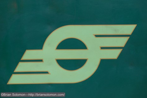 Old 'flying snail' logo on 461's tender.