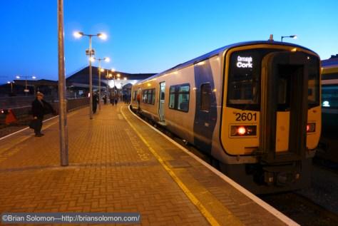 Irish_Rail_2601_at_Kent_Station_dusk_P1210717