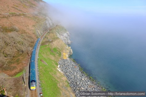 An Irish Rail ICR from Rosslare works toward Dublin.