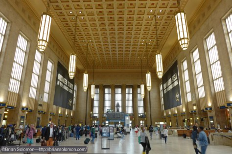 Main waiting room and concourse at Philadelphia 30th Street Station on June 4, 2015. Lumix LX7 photo.