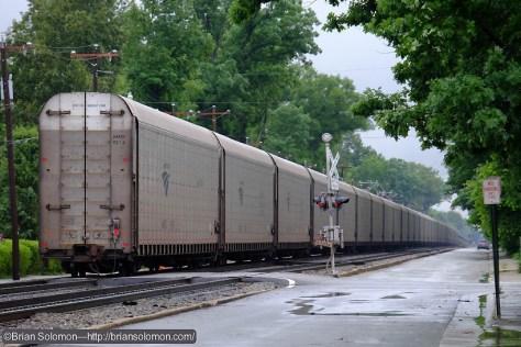 The Auto train is Amtrak's longest and heaviest run. Fuji X-T1 digital camera.