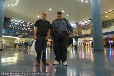 Richard J. Solomon and Pat Yough at Penn-Station on June 27, 2015. Lumix LX7 photo.