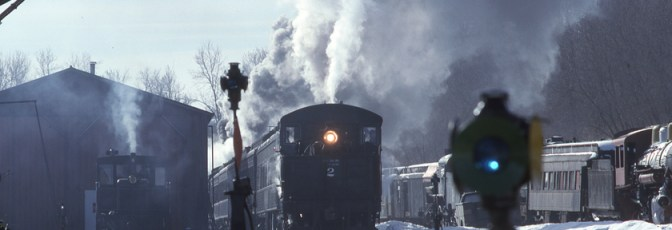 Steam and Snow! Mid-Continent Railway Museum—February 18, 1996.