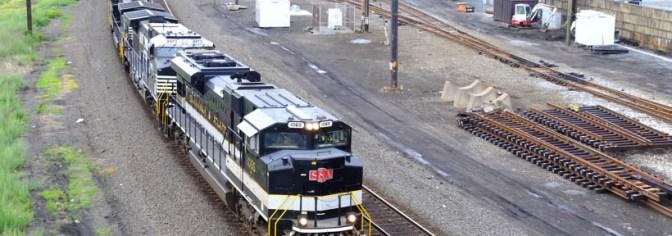 Lucky Day in Harrisburg! Savanna & Atlanta heritage Locomotive at Harris Tower.