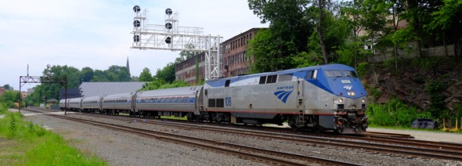 Tracking the Light Daily Photo: Amtrak's Vermonter at Greenfield, Massachusetts.