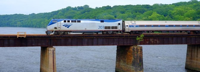 Tracking the Light Extra Post: Amtrak's Vermonter Crossing the Connecticut River at Holyoke