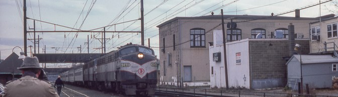 Classic Chrome: NJ DOT E8s at South Amboy, New Jersey, December 1981.