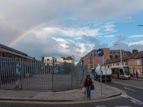 Colour in the sky over Dublin.