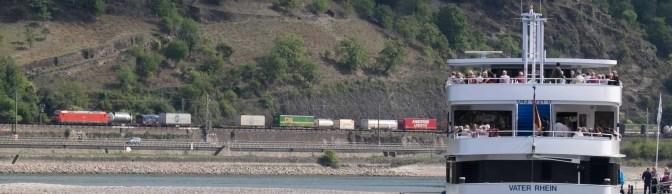 Extra Post—Freight from the St. Goar-St. Goarhausen Rhein Ferry.