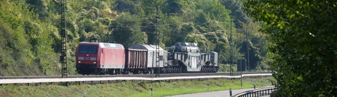Heavy Load Rolls Along the Rhein—You don't see this every day!